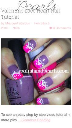 Cute Valentine design from Miss Jen Fabulous *watch her tutorials on YouTube @MissJenFABULOUS