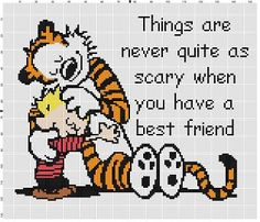My Best Friend - Calvin and Hobbes Cross Stitch Pattern - Subversive Funny Modern Pop Culture Cross Stitch Gift - Instant Download by SnarkyArtCompany on Etsy