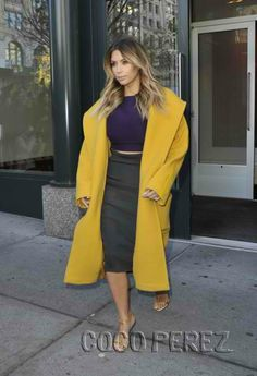 Kimberly in Max Mara coat. Sooo chic.