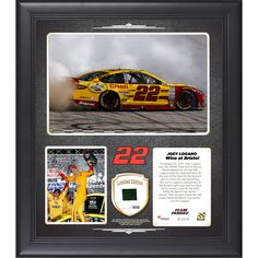 Joey Logano Fanatics Authentic 2015 IRWIN Tools 500 at Bristol Motor Speedway Race Winner Framed 15'' x 17'' Collage With Piece of Race-Used Tire - Limited Edition of 500 - $63.99