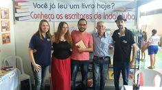 Evento - Feira Cultural do Colégio Meta - Projeto Autores & Livros (25-11-16) Luiza Salla, Marina Salla, Rodrigo Otaguro, Moacir Torres e Marcos Otero.