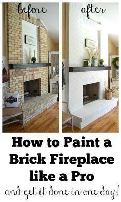 How to Paint a Brick Fireplace like a Pro