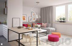 Energetyzujace kolory w salonie - zdjęcie od MIKOŁAJSKAstudio - Salon - Styl Nowoczesny - MIKOŁAJSKAstudio