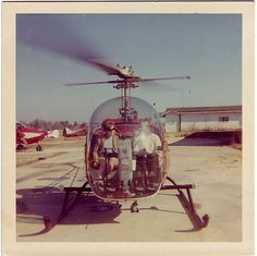 Vintage Bell helicopter. What a blast!
