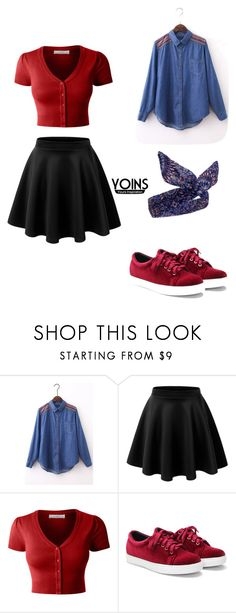 """""""Yoins #17"""" by edita-m ❤ liked on Polyvore featuring LE3NO, yoins, yoinscollection and loveyoins"""