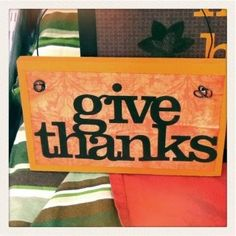 Give thanks vinyl hanging sign Silhouette Projects