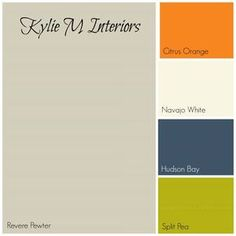revere pewter gray paint colour palette with orange, cream, navy blue and green for best boys room paint colours Navy Boys Rooms, Orange Boys Rooms, Green Boys Room, Living Room Orange, Orange Nursery, Bedroom Orange, Boys Bedroom Paint, Boys Room Paint Ideas, Room Ideas