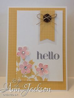 Card made using Stampin Up My Friend, Petite Petals  Four You stamp sets.