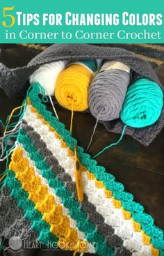 5 Tips for Changing Colors in Corner to Corner Crochet (C2C) http://hearthookhome.com/how-to-change-colors-in-c2c-crochet-corner-to-corner/?utm_campaign=coschedule&utm_source=pinterest&utm_medium=Ashlea%20K%20-%20Heart%2C%20Hook%2C%20Home&utm_content=5%20Tips%20for%20Changing%20Colors%20in%20Corner%20to%20Corner%20Crochet%20%28C2C%29