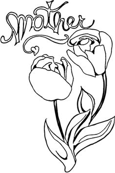 Tulips For Mom Coloring Page From Mothers Day Category Select 25699 Printable Crafts Of