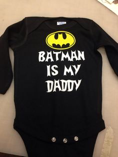 Batman is my daddy Long Sleeve baby infant onesie on Etsy, $10.00