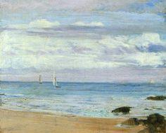 Bleu et argent: Trouville de James Abbott McNeill Whistler, 1865