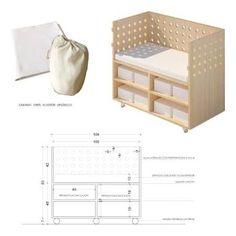Resultado de imagen para como hacer una cuna colecho Baby Crib Diy, Baby Cribs, Baby Bedroom, Nursery Room, Bedside Crib, Baby Staff, Baby Changing Tables, Baby Furniture, Kid Beds