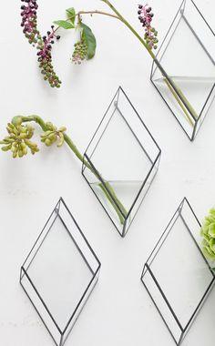 1012 Terra Glass Plant Vases