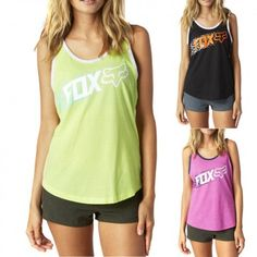Fox Standby Womens Shirts Sleeveless Work Out Ladies Sports Tank Tops