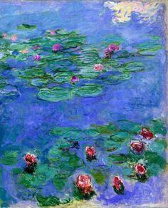 "i love this. Claude Monet's ""Water Lillies... Les Nympheas"""
