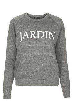 Topshop 'Jardin' Raglan Sleeve Sweatshirt | Nordstrom