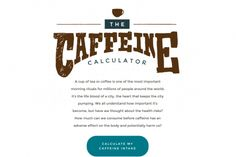The Caffeine Calculator Infographic