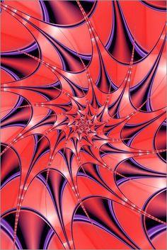 Poster Spirale Sternförmig dunkel by Christine Bässler