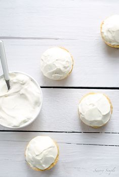 These mini Vanilla Cream Cakes are a soft, dense and perfectly portioned dessert.