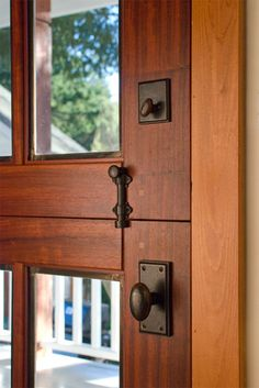 Dutch Doors  Great Idea open only the top to answer door...no more chasing dog down the street!