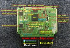 The inner board functional diagram for EDC16C39    www.auto-chips.com