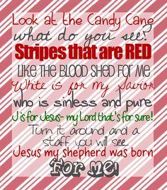 Digital file  Christmas typography  candy cane poem card by bowtiquebasics, $9.00