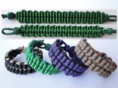 """✎How to Make a """"Truck Tires"""" Reversible (No Buckle) Paracord Survival Bracelet-Three Cords Version https://youtu.be/UPfezAOhq6s Today we are presenting one o..."""