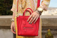 Celine Boston bag via: Atlantic-Pacific Celine Purse, Celine Handbags, Celine Luggage, Latest Handbags, Atlantic Pacific, Red Purses, Small Purses, Red Bags, Boston Bag
