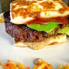 It's not just a burger sandwich, it's a double-hitter: the casein in the haloumi will help you find your bliss again, while the omega 3 in grass fed beef will provide the brain power you need to realize s/he might not have been all that perfect after all. No need to stress about buying a p