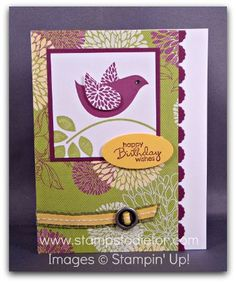 Stampin' Up!, Hand Stamped Card, Betsy's Blossom