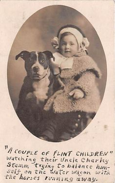 1906 RPPC Real Photo Cute Girl Dog Puppy Portrait Postcard Puppy Animal zs9495