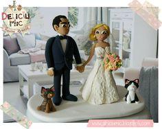 Deliciu Mic - Figurine de tort nunta mire si mireasa Bijuterii Handmade si Accesorii Handmade: CUTE - Figurine de tort pentru nunta - Mire s... Cake Toppers, Fashion, Figurine, Moda, Fashion Styles, Fashion Illustrations