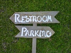 Rustic Wedding Signs Restroom Sign. by WeddingSignsWithLove, $55.00