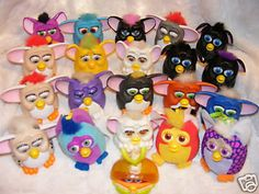 To help cash-in on the toy that was sweeping the nation, McDonald's released their own version of the talking creatures which weren't as cool since they couldn't do much of anything. They were sort of the poor man's Furby. I have about 12 in my collection.