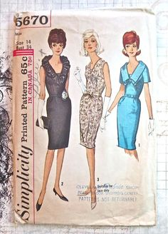 Simplicity 5670  Vintage 1960s Womens Dress Pattern   by Fragolina, $9.00