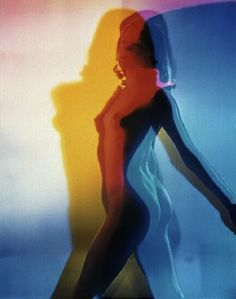 Psychedelic pin up (60's photography / rainbow / psychedelic art / color photo / retro )