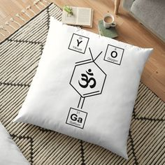 Periodic Elements, Floor Pillows, Throw Pillows, Namaste Yoga, Weird Holidays, Yoga Gifts, Meaningful Gifts, Pillow Design, Home And Living