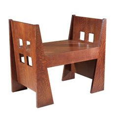 A beautiful Stickley bench.