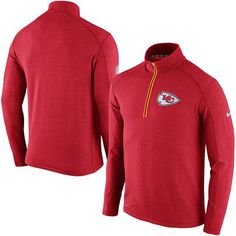 Men's Kansas City Chiefs Nike Red Sideline Fleece Therma-FIT ...