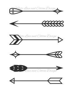 Printable Digital Illustration - Arrows - Art and Decor - 8 x 10
