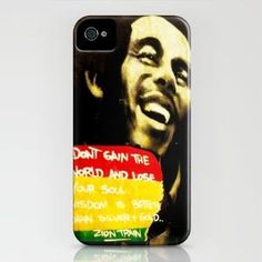 Bob Marley 'Don't gain the world and lose your soul. Wisdom is better than silver and gold.' iPhone Case