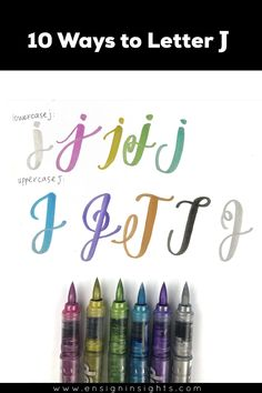 Hand Letter J in 10 lettering styles. Need some brush lettering inspiration? Learn hand lettering by practicing unique lettering styles. Lettering Guide, Creative Lettering, Lettering Styles, Brush Lettering, Handwriting Alphabet, Hand Lettering Alphabet, Monogram Fonts, Monogram Letters, Free Monogram