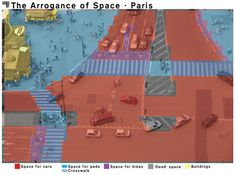 """Gallery of """"The Arrogance of Space"""": Mapping The Unfair Distribution of Public Space at Urban Intersections - 1"""