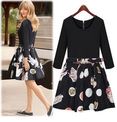 casual dress http://www.luulla.com/product/312751/autumn-winter-o-neck-long-sleeve-floral-print-casual-women-dress