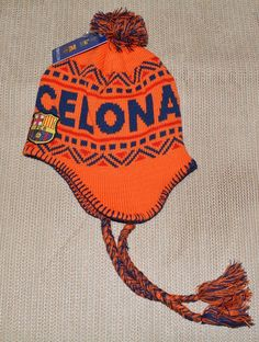 5907a55126529b FC Barcelona Beanie fcb Barca Winter new Peruvian Knit Hat Cap MESSI 10 |  eBay