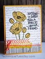 Good Friend Poppies Card 8/2012