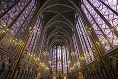 Saint Chapelle Paris. Thinking about getting my MA in Art History and doing my thesis on French Gothic Cathedrals. This is the one I'm really dying to get to.