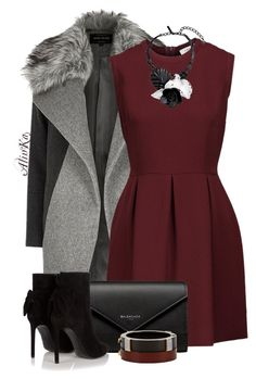 A fashion look from November 2016 featuring short red dress, River Island and black ankle bootie. Browse and shop related looks. Classy Outfits, Stylish Outfits, Cool Outfits, Fashion Outfits, Winter Night Outfit, Love Fashion, Womens Fashion, Fashion Design, Queen Outfit