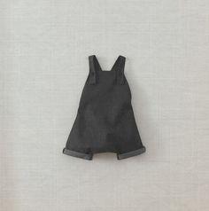 Newborn modern playsuit / Baby denim jumpsuit / by FiruliFirula